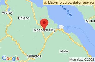 Map of Buntod Sandbar Sanctuary, Masbate City Masbate