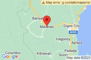 Map of Matanao, Matanao Davao del Sur