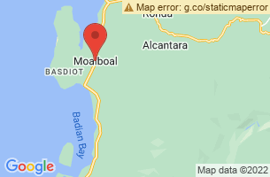 Map of Moalboal Shoal, Moalboal Cebu