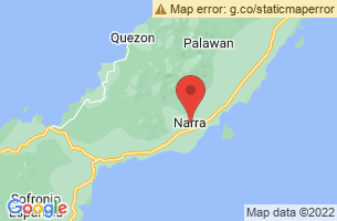 Map of Rasa Island Wildlife Sanctuary, Narra Palawan