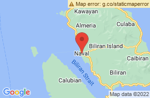 Map of Higatangan Island and Beach, Naval Biliran