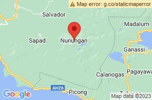 Map of Lake Nunungan, Nunungan Lanao del Norte