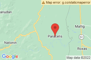 Map of Paracelis, Paracelis Mountain Province