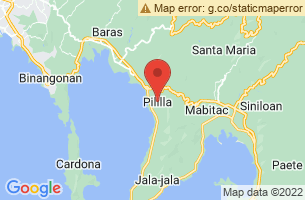 Map of Pililla Wind Farm, Pililla Rizal