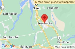 Map of Pozzorubio, Pozzorubio Pangasinan