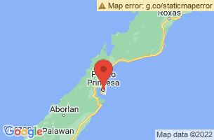 Map of Puerto Princesa River, Puerto Princesa City Palawan