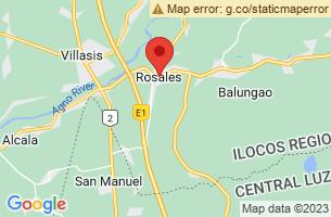 Map of Rosales, Rosales Pangasinan