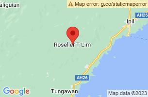 Map of Roseller Lim, Roseller Lim Zamboanga Sibugay