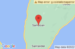 Map of Binalayan Falls, Samboan Cebu