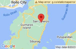 Map of Guimaras Strait, San Lorenzo Guimaras