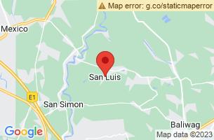 Map of Cunayan Falls, San Luis Aurora