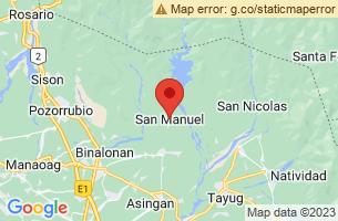 Map of San Manuel, San Manuel Pangasinan