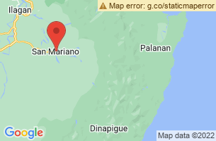 Map of Dunoy Lake Philippine Crocodile Sanctuary, San Mariano Isabela