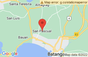 Map of Sombrero Island, San Pascual Masbate