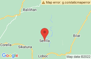 Map of Sevilla, Sevilla Bohol