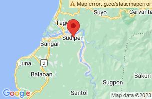 Map of Amburayan River, Sudipen La Union
