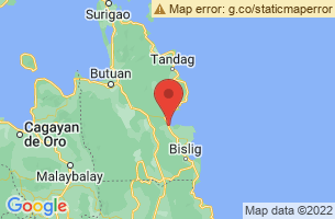 Map of Surigao del Sur,