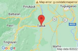 Map of Tabuk City, Tabuk City Kalinga