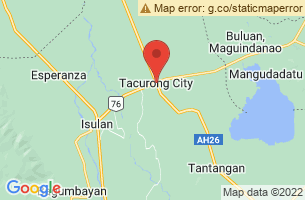 Map of Tacurong City, Tacurong City Sultan Kudarat