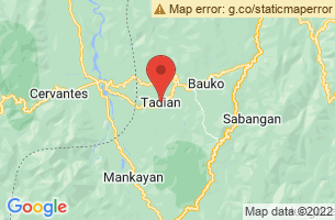 Map of Tadian, Tadian Mountain Province