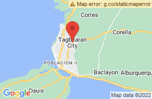 Map of Doljo Beach, Tagbilaran City Bohol