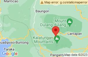 Map of Mount Kalatungan, Talakag Bukidnon