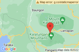 Map of Mount Kitanglad Park, Talakag Bukidnon