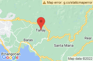Map of Mount Batolusong, Tanay Rizal