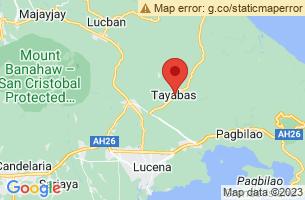 Map of Tayabas City, Tayabas City Quezon