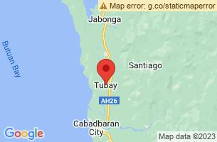 Map of Tubay, Tubay Agusan del Norte