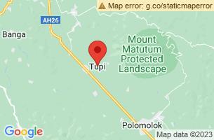 Map of Mount Matutum, Tupi South Cotabato