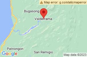 Map of Central Panay Mountains, Valderrama Antique