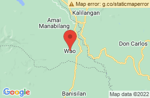 Map of Wao, Wao Lanao del Sur