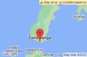 Map of Santa Cruz Island Pink Beach, Zamboanga City Zamboanga del Sur