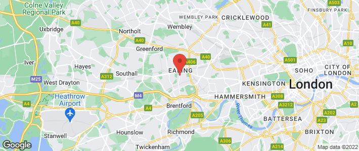 Boiler service - Ealing - JRT Pope - Location map