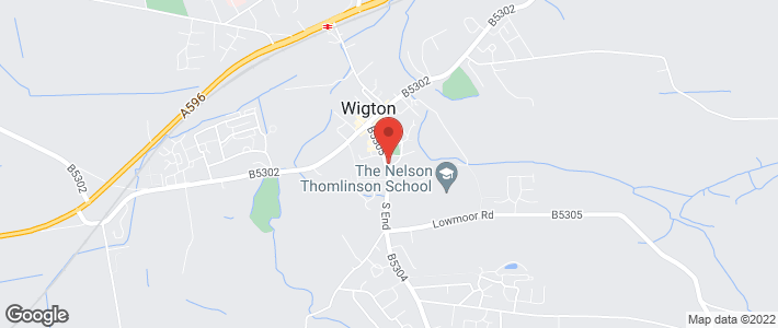 Wedding flowers - Wigton - The Passion Flower - Location Map