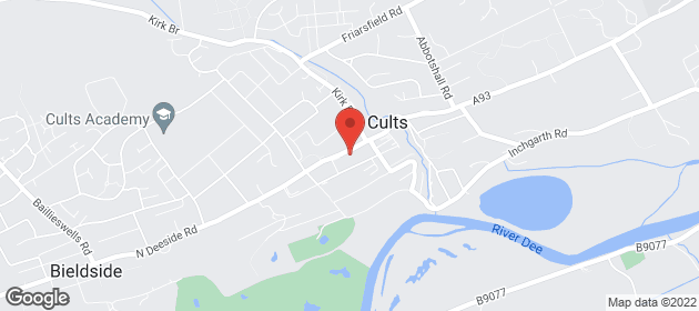 Fresh Fruit & Veg - Cults, Aberdeen, Aberdeenshire - Kelly of Cults Ltd - map