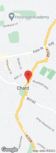 Appliance installation - Chard, Lyme Regis, Taunton, Yeovil - Chard Domestic Appliances - map