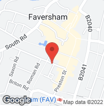 Tyre tracking - Faversham, Kent - Autocheck Motorists Centre - Location map