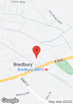 Located in Bredbury- towbars system - Bradford - Wez Morrell Towbars & Roofracks - Location Map