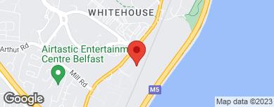 Roller shutter doors - Newtownabbey, Belfast - A B Doors - map