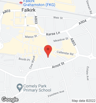hair salon  - Falkirk  - Rucci Hair - location map