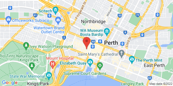 Map - Holiday Inn Perth City Centre