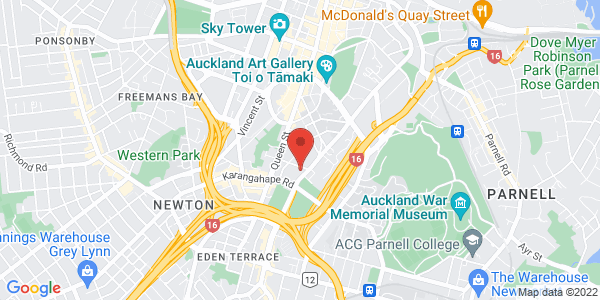 Map - The Langham, Auckland