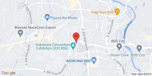 Map - Indonesia Convention Exhibition