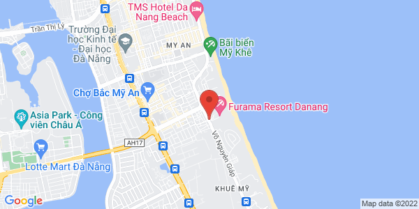 Map - Furama Resort Danang Vietnam