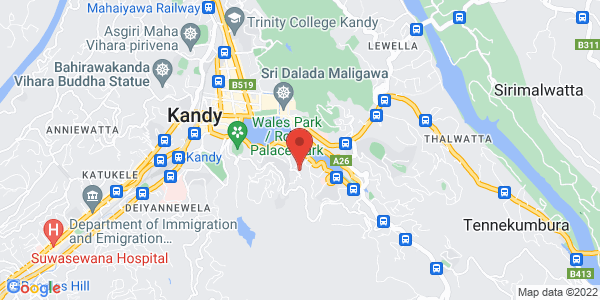 Map - OZO Kandy Sri Lanka