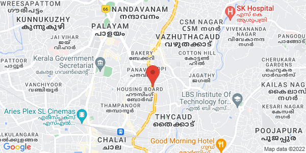 Map - Vivanta by Taj - Trivandrum