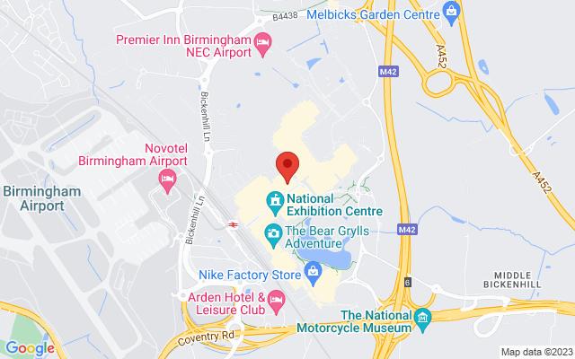 <div class='adr' >                             <div class='street-address'>NEC </div>                             <div class='extended-address'></div>                             <div>                                 <span class='locality'>Birmingham</span>,                                 <span class='region'></span>                                 <span class='postal-code'>B40 1NT</span>                             </div>                             <div class='country'>United Kingdom</div>                         </div> on Google Maps