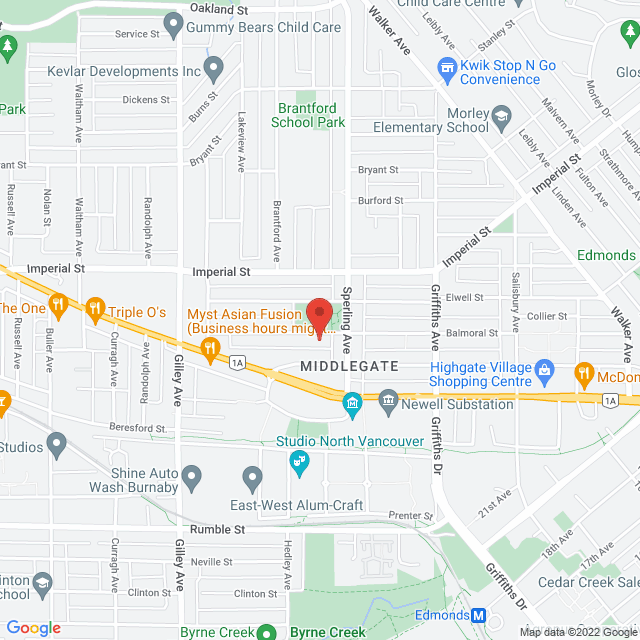 Map to St. Francis de Sales in Burnaby, BC